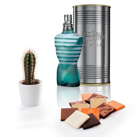 'Charismatique' pour lui : parfum, chocolats et plante