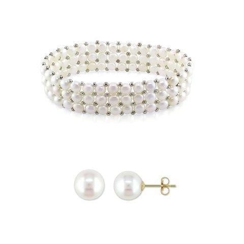 """Parure """"les perles blanches"""""""